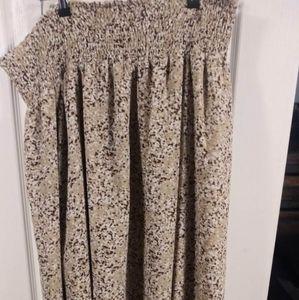 ✨B3G1 George XL(16-18) Brown White Splatter Skirt
